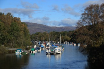 All the small boats can be seen from the bridge on Balloch's Main Street